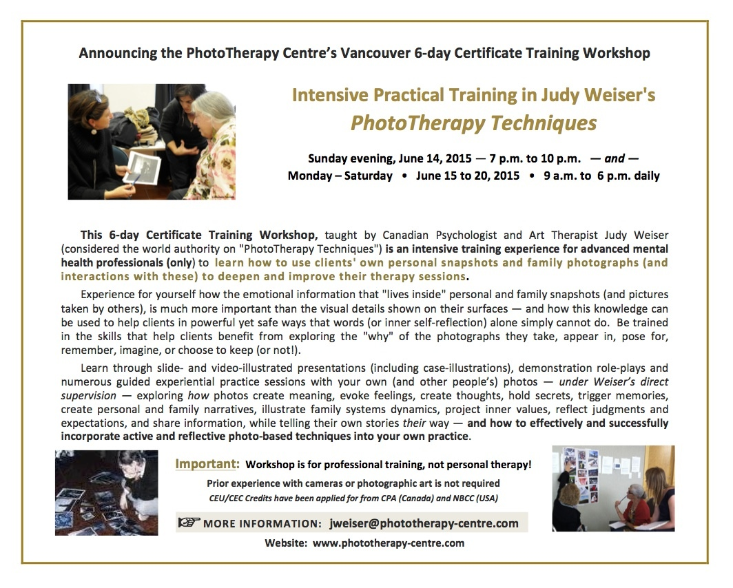 Weiser 6-day Training Workshop June 2015